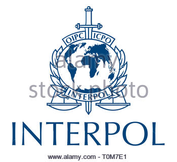 Interpol logo - Stock Image