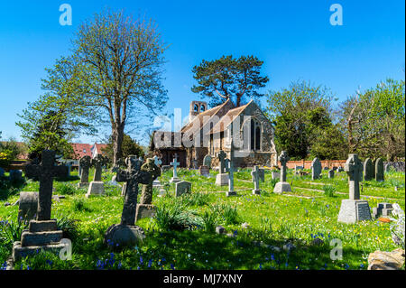 St. Mary the Virgin Church,  Connaught Avenue, Frinton-on Sea, Essex, England - Stock Image