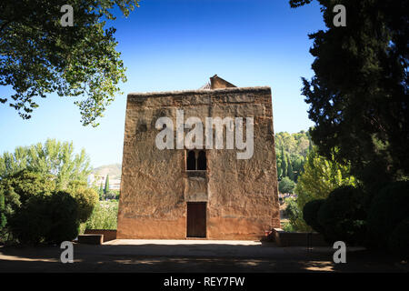 The Infants Tower in the Alhambra Palace in Granada Spain - Stock Image