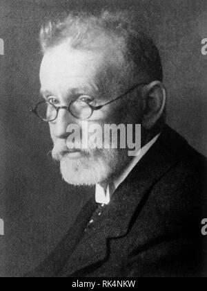 PAUL EHRLICH (1854-1915) German physician, scientist, immunologist, syphillis - Stock Image