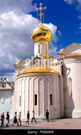 Russia, Serguiev Possad, Trinity Lavra of St. Sergius cathedral, the Trinity Lavra of St. Sergius orthodox monastery - Stock Image