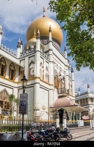 Singapore - 22nd December 2018: Tthe Sultan mosque in the Arab quarter,  This is in the Kampong Glam area - Stock Image