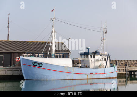 Fishing vessel, Saeby, Denmark - Stock Image