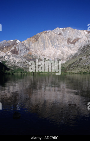 Laurel Mountain and Convict Lake, Inyo National Forest, Eastern Sierra Nevada near Mammoth Lakes, California, USA - Stock Image
