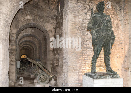 Artillery museum,  Gjirokasta Castle Albania - Stock Image