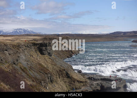 The beginning of themagnificent Gullfoss  Falls, Iceland - Stock Image
