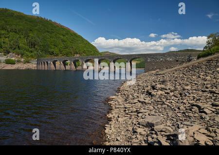 Garreg Ddu Dam Elan Valley Ryhayader Powys Wales UK - Stock Image