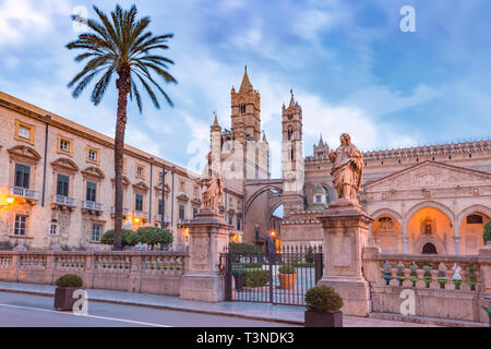 Palermo cathedral, Sicily, Italy - Stock Image