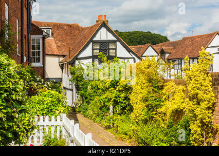 Timber-framed buildings in Old Amersham, Buckinghamshire, England - Stock Image
