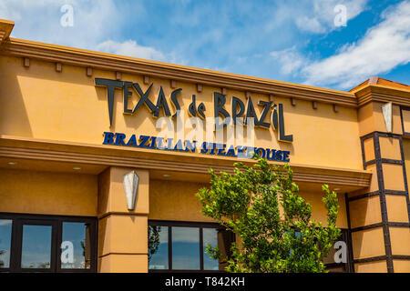 Texas de  Brazil restaurant at The Town Square Shopping Mall  in Las Vegas Nevada USA - Stock Image