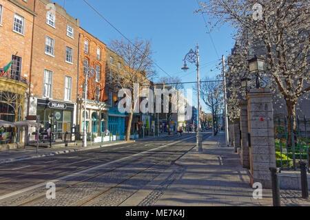 Dawson street in Dublin - Stock Image