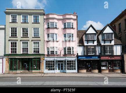 Houses on High Street in Oxford - Stock Image