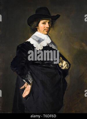Paulus Verschuur (1606-1667), portrait painting by Frans Hals, 1643 - Stock Image