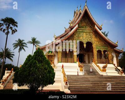 Luang Prabang Temple at The Royal Palace - Stock Image