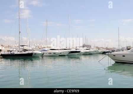 Marina mit Yachten in Palma auf Mallorca, Spanien, Europa.   Marina with yachts in Palma on Majorca, Spain, Europe. - Stock Image