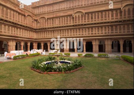 Laxmi Niwas Palace heritage hotel, Bikaner, Rajasthan, India - Stock Image