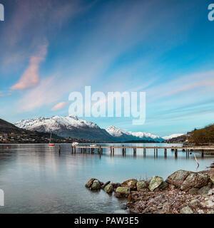 Lake Wakatipu Queenstown New Zealand - Stock Image