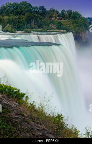 Niagara Falls With Blurry Flowing Dreamy Water - Stock Image