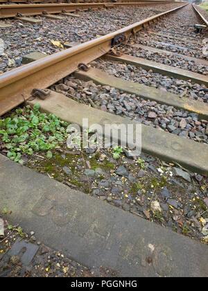 Railway Lines Tracks Parallel - Stock Image