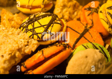 Alfajore cookies for a party, snack, dessert, sweet, appetizer, party - Stock Image