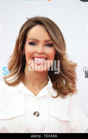 Katie Piper arrives for a concert hosted by Sentebale in Hampton Court Palace in East Molesey, to raise awareness and vital funds for the Duke of Sussex's charity, Sentebale, which helps young people in southern Africa affected by HIV. - Stock Image