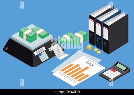A vector illustration of Tax Accounting Concept - Stock Image