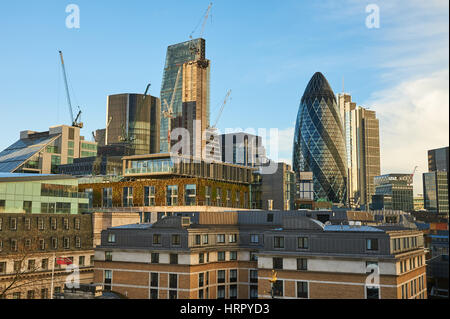 City of London skyline with The Gerkin building - Stock Image