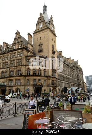 The exterior architecture of Glasgow Central hotel on Hope Street, Glasgow, Scotland, UK - Stock Image