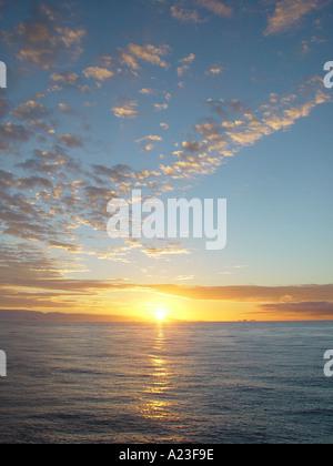 Sunset over ocean Antarctica - Stock Image