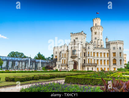 Hluboka nad Vltavou Castle in Czech Republic - Stock Image