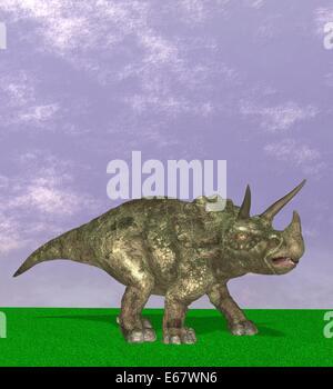 Dinosaurier Triceratops / dinosaur Triceratops - Stock Image