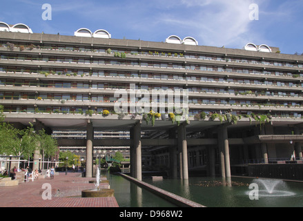 Residential flats at the Barbican London - Stock Image