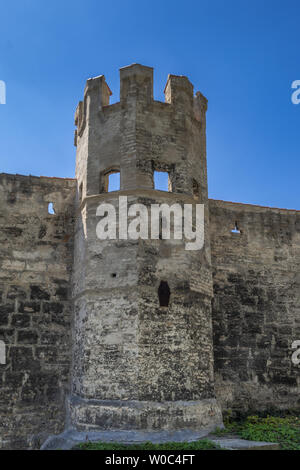Remains of the city wall in Weilheim, Bavaria, Germany. - Stock Image