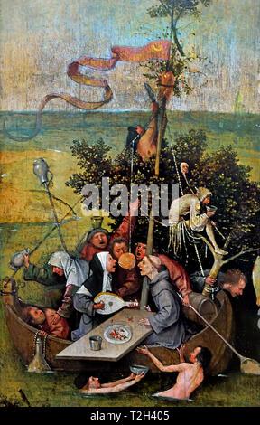 The Ship of Fools 1505 by Hieronymus Bosch  born Jheronimus van Aken 1450 – 1516 The Netherlands Dutch - Stock Image