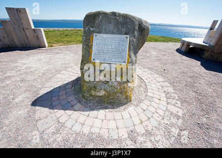 The memorial stone to the Braan Seer located at Chancery point Fortrose, on the Black Isle in Highland Region, Scotland. - Stock Image
