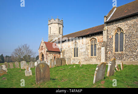 A view of the Church of St Mary at Hassingham, Norfolk, England, United Kingdom, Europe. - Stock Image