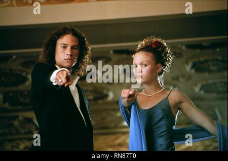 10 THINGS I HATE ABOUT YOU, HEATH LEDGER , JULIA STILES, 1999 - Stock Image
