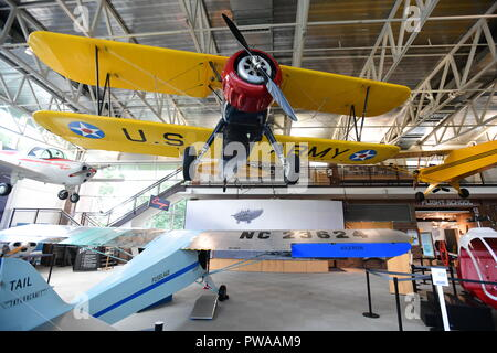 USA Maryland MD Prince Georges County College Park Aviation Museum  antique aircraft at the oldest airport in the world - Stock Image