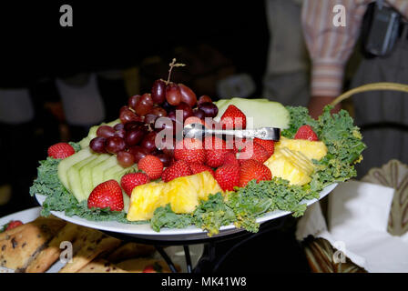 plate of fruit - Stock Image
