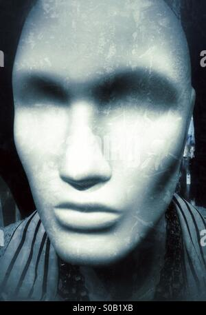 Head to a mannequin / clothing doll in a shop. - Stock Image