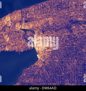 heat island in the city go Buffalo, NY - Stock Image