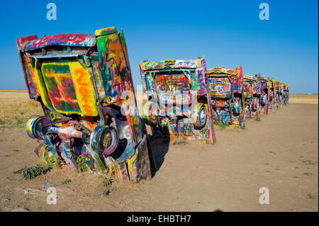 Cadillac Ranch, Amarillo, Texas - Stock Image