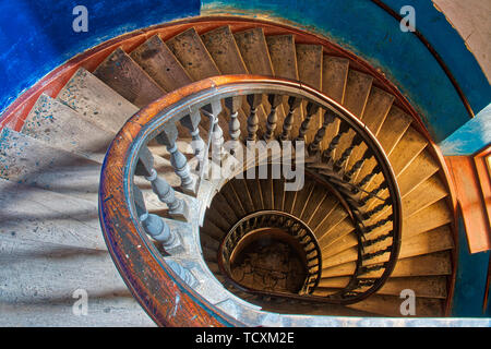 An old spiral staircase - Stock Image