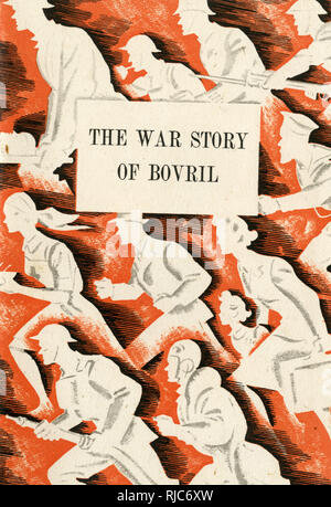 Front cover design, The War Story of Bovril. - Stock Image