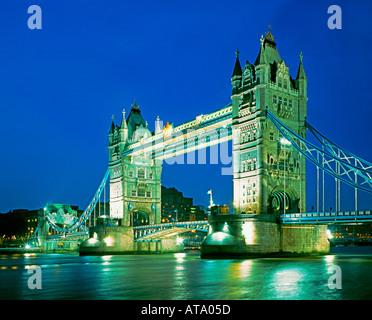 GB London Tower bridge dawn - Stock Image
