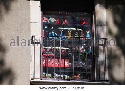 La Rambla Street in the City of Barcelona in Catalunya in Spain in Europe - Stock Image