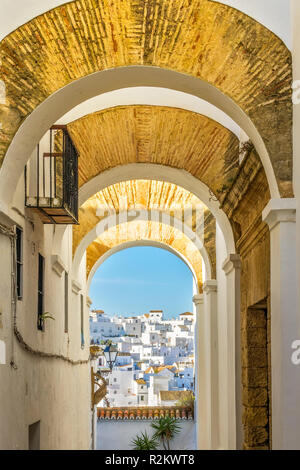 The Town Of Vejer de la Frontera, Andalucia, Spain - Stock Image