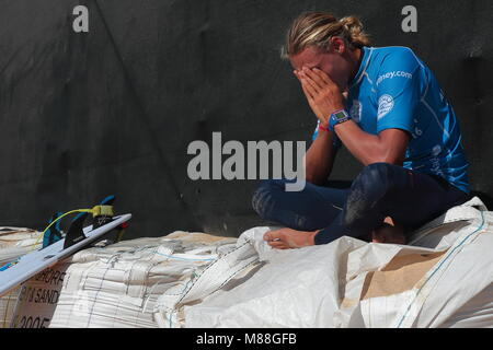 Australia, Sydney. 02nd, Mar 2016. Lliam Mortensen from Australia to concentrate before round, during a qualification - Stock Image