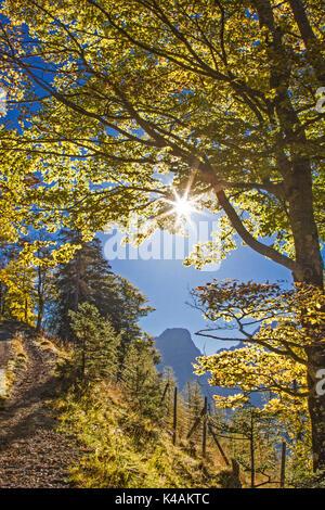 Autumn In The Karwendel Mountains - Stock Image
