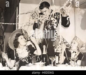 Celebrating the New Year - Stock Image